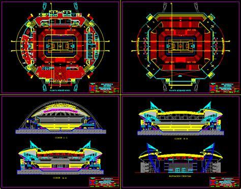 stadium dwg section  autocad designs cad