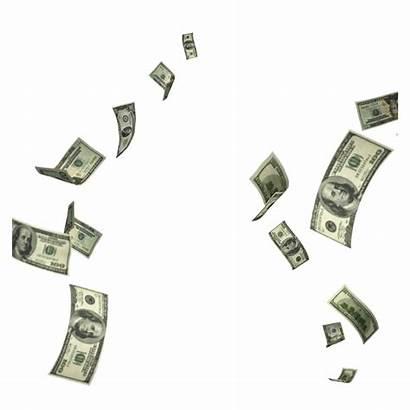 Dollar Flying Falling Money Transparent 1200