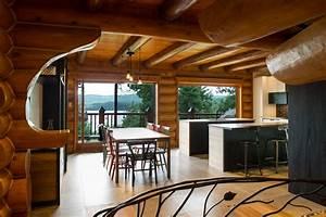 R U00e9novation Maison Bois Rond Bord De L U0026 39 Eau