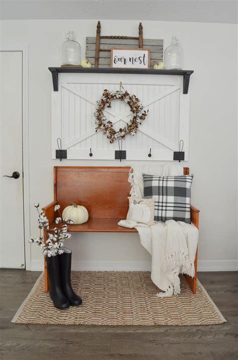 cozy fall farmhouse entryway farm fresh homestead