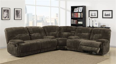 microfiber reclining sectional sofa homelegance geoffrey power reclining sectional sofa set chocolate textured plush microfiber