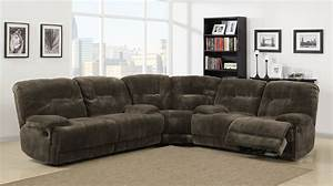 Homelegance geoffrey power reclining sectional sofa set for Sectional sofa with bed and recliner