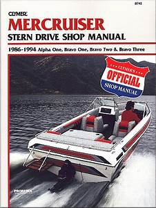 Mercruiser Stern Drive Repair Manual Alpha  Bravo 1986