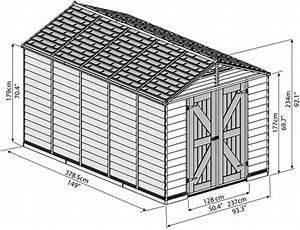 Palram 8x12 Skylight Storage Shed Kit