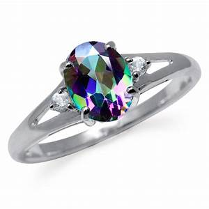 157ct mystic white topaz 925 sterling silver With mystic topaz wedding ring