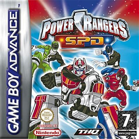 covers box power rangers space delta gba