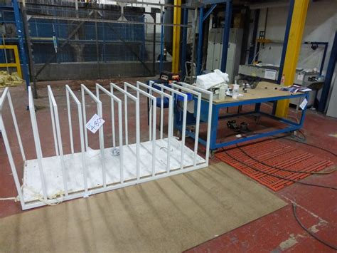 inspection storage benches mobile steel table vertical sheet rack airbench light duty rack