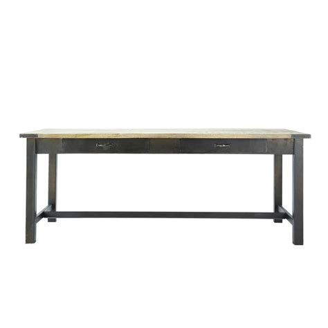 mango wood  metal dining table  cm alfred maisons du monde