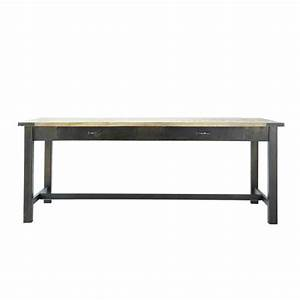 Mango Wood And Metal Dining Table W 200cm Alfred Maisons