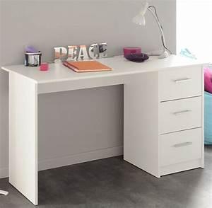 Schreibtisch Weiß Schubladen : schreibtisch 3 schubladen infinity 101 von parisot weiss i ~ Orissabook.com Haus und Dekorationen