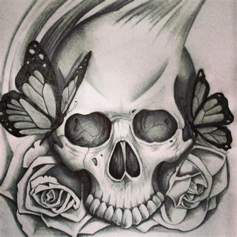 tatouage tete de mort papillons mort pinterest