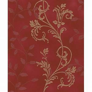 Rasch Diamond Dust Flower Floral Leaf Motif Pattern ...
