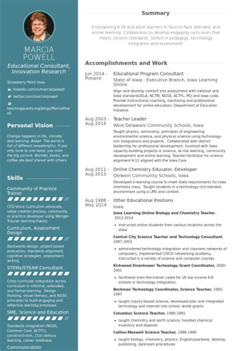 Special Education Consultant Resume by Education Resume Sles Visualcv Resume Sles Database