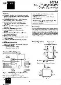 NE8023A datasheet - MCC Manchester Code Converter Manual