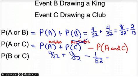 probability worksheets addition rule worksheet addition rule probability addition and
