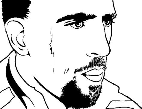 Kleurplaat Bayermunchen by Coloring Page Soccer Franck Ribery Soccer World Cup