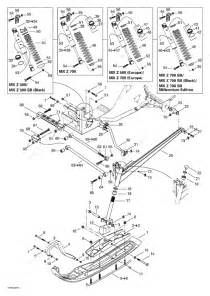 Ski Doo 2000 Mx Z - 700  Front Suspension And Ski