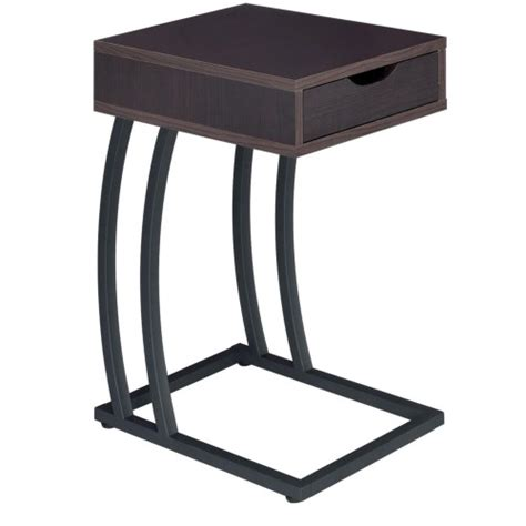 coaster accent tables chairside table with storage drawer