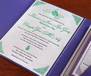 celtic letterpress wedding invitation gallery teagan With when to send out wedding invitations ireland