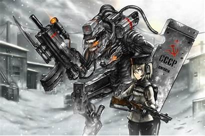 Anime Snow Mecha Ussr Robots Alien Weapons