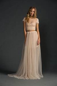 crop top wedding dresses the one bride guide With crop wedding dress