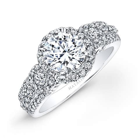 Natalie K  Style Nk25837w Diamond Engagement Ring With. Waterfall Engagement Rings. Sculpted Engagement Rings. Attached Rings. Victorian Style Rings. Bride Groom Rings. Vicky Rings. Relationship Wedding Rings. Cake Rings