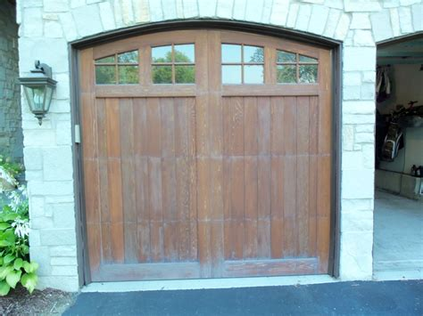 wood garage doors chicago deciding on refinishing wood garage doors the look or the wow look painting in partnership