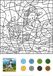 Zebra Color by Number Free Printable Coloring Pages