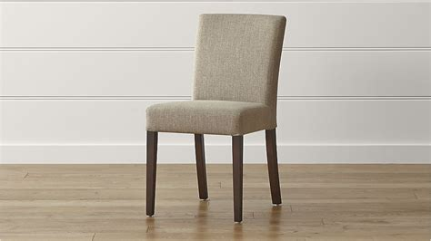 lowe khaki upholstered dining chair crate and barrel