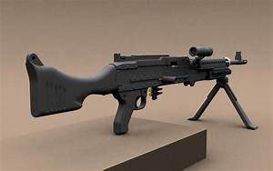 Hi-poly M240 machinegun free 3D Model max - CGTrader com
