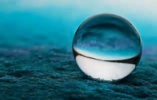 Closeup Ball Blue Bokeh Glass Marble Wallpaper