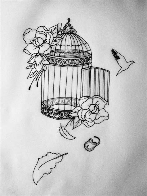 Outline birdcage stencil | Cage tattoos, Freedom tattoos, Sleeve tattoos