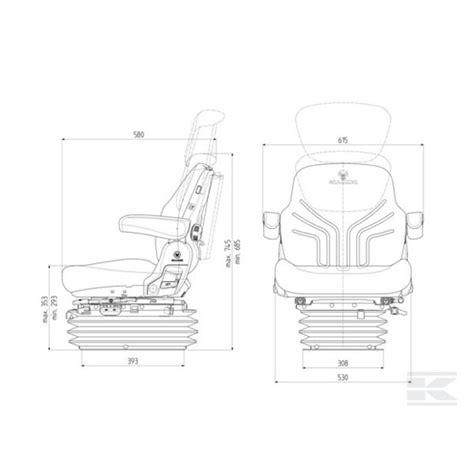 siege pneumatique tracteur grammer siège de tracteur pneumatique grammer maximo comfort