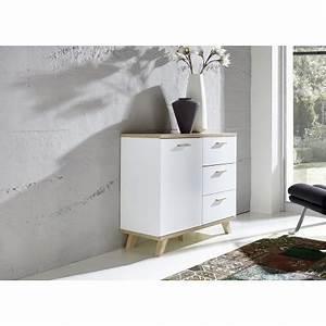 Commode Blanc Laqué : commode blanc laqu mat et bois bor al cbc meubles ~ Teatrodelosmanantiales.com Idées de Décoration