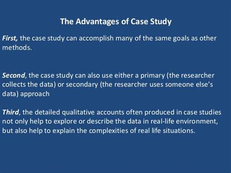 Advantages Of Case Studies In Qualitative Research