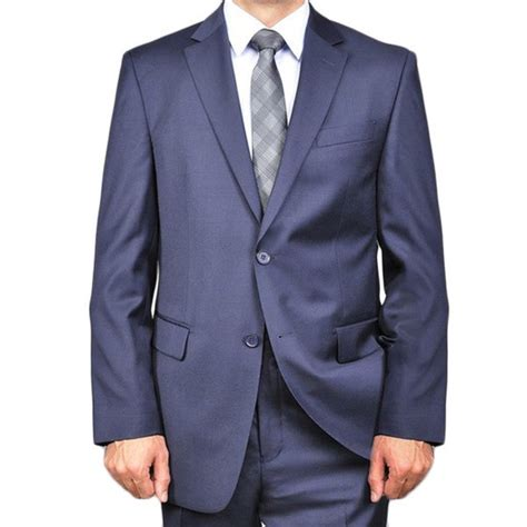 A navy suit is a smart choice for any occasion. Shop Men's Solid Navy Blue 2-button Wool Suit 50R / 44W ...