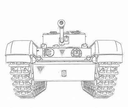 Coloring Army Tank Pages