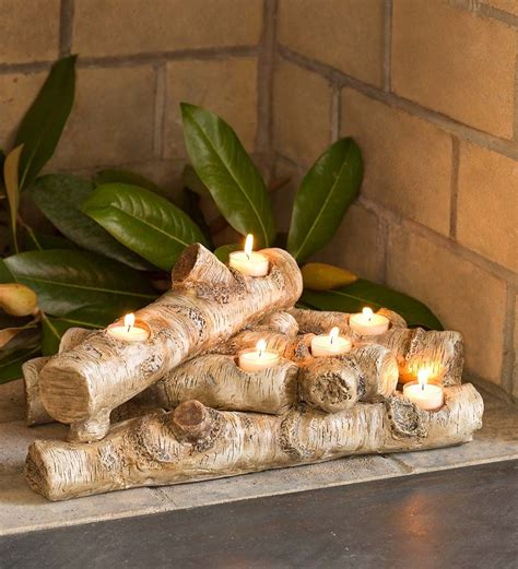 Decorating With Candles Fireplace by Logs Hearth Candle Holder Fireplace Candelabras