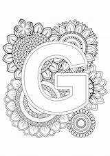 Coloring Mindfulness Adult Alphabet Letter Letters Teacherspayteachers sketch template