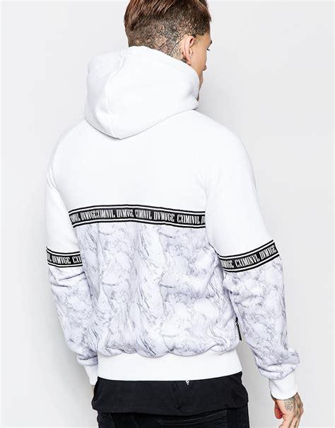 lyst criminal damage zip  hoodie  marble print