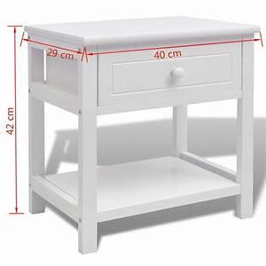 Table De Chevet Blanc Et Bois : la boutique en ligne vidaxl table de chevet bois blanc ~ Teatrodelosmanantiales.com Idées de Décoration
