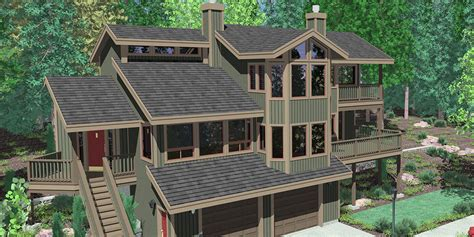 house plans for sloping lots hillside home plans with basement sloping lot house plans