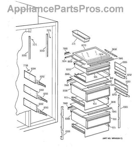 parts  ge zisbdca fresh food section parts appliancepartsproscom