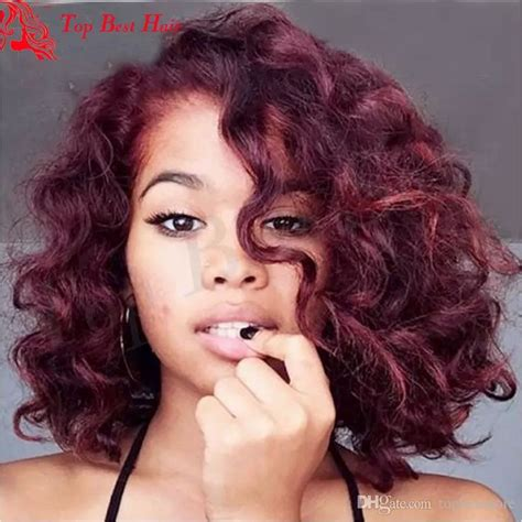 ideas  short burgundy hair  pinterest