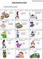 Daily Routines Quiz worksheet   Daily routine activities ...