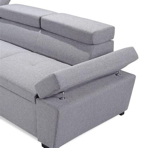 canapé d angle 5 places convertible canapé d 39 angle convertible 5 places quot quot 255cm gris