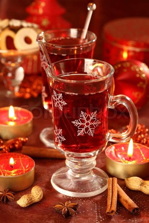 winter beverages hot drink for winter and christmas with delicious cookies stock photo colourbox