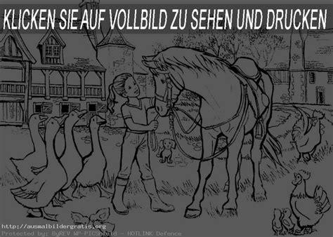 Ausmalbilder Gratis Pferde 3