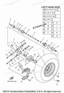 Yamaha Atv 2011 Oem Parts Diagram For Rear Wheel