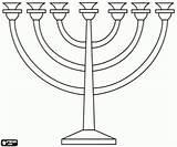 Candelabro Colorare Ebraico Dibujo Kandelaar Disegni Joodse Ebraismo Judio Coloring Sette Jewish Kleurplaat Zeven Seven Stampare Google Davi Colorir Israel sketch template